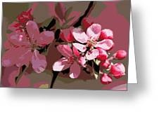 Flowering Crabapple Posterized Greeting Card
