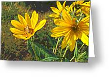 Flowers And Hopper Greeting Card