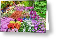 Flowers At Market Greeting Card