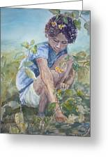 Flowers For Her Hair Greeting Card by Dorothy Herron