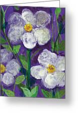 Flowers In Moonlight Greeting Card