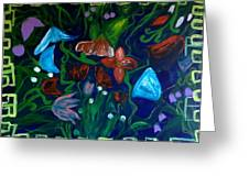 Flowers In The Garden Greeting Card by Pretchill Smith