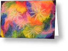 Flowers On Color Greeting Card