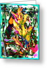 Flowers On Fire Greeting Card