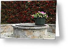 Flowers On The Well Greeting Card
