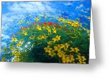 Flowery Sky Greeting Card