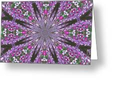 Flowery Snow Flake Greeting Card