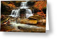 Flowing Down The Mountain Greeting Card