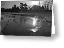 Flowing Water At Sunrise Greeting Card