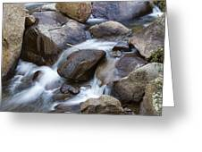 Flowing Water Down The Colorado St Vrain River Greeting Card
