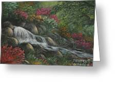 Flowing Waters Greeting Card by Kristi Roberts