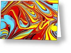 Fluid Abstracts 2011 Greeting Card