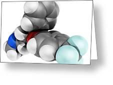 Fluoxetine Antidepressant Drug Molecule Greeting Card