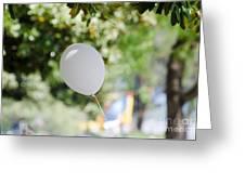 Flying Balloon Greeting Card