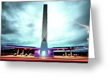 Flying Fuelstation - Lightning Edt. Greeting Card by Thomas Splietker