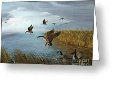 Flying Geese Greeting Card