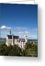 Flying High Over Neuschwanstein Greeting Card