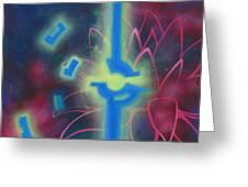Flying Lotus Greeting Card