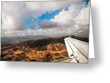 Flying Over Spanish Land IIi Greeting Card