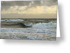 Flying Over The Waves Greeting Card
