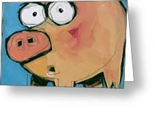 Flying Pig 1 Greeting Card