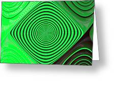 Focus On Green Greeting Card