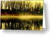 Fog At  Farrington Lake Greeting Card