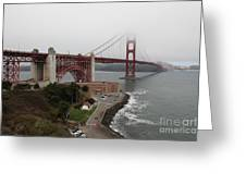 Fog At The San Francisco Golden Gate Bridge - 5d18868 Greeting Card by Wingsdomain Art and Photography