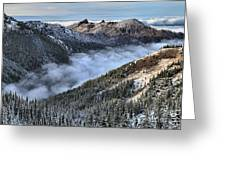 Fog Below Hurricane Greeting Card