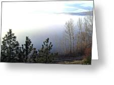 Fog On Wood Lake Greeting Card
