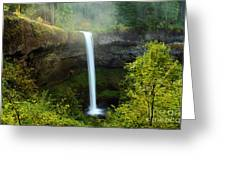 Fog Over The Falls Greeting Card