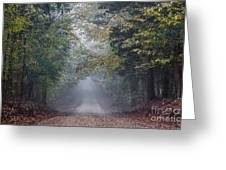 Fog Road Greeting Card
