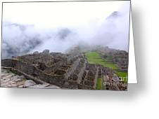 Fog Rolling Into Machu Picchu Greeting Card
