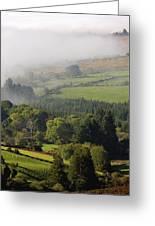 Fog Rolling Into Nire Valley Clonmel Greeting Card
