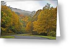 Foggy Autumn Day Greeting Card