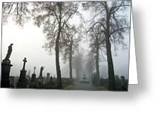 Foggy Cemetery Greeting Card