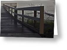 Foggy Morning On The Dock Greeting Card