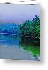 Foggy Mountain Pond Greeting Card