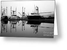 Foggy Reflections Bw Greeting Card by Kami McKeon