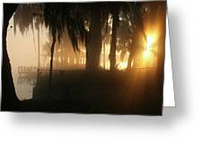 Foggy Sunrise 2 Greeting Card