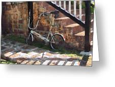 Folding Bicycle Antigua Greeting Card