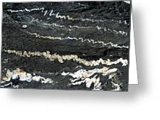 Folds Of Calcite In Limestone Rock Greeting Card