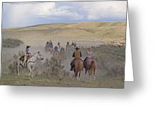 Following The Herd Greeting Card