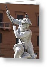 Fontana Del Nettuno. Neptune Fountain. Piazza Navona. Rome Greeting Card