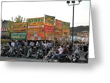 Food Selection In Sturgis Greeting Card