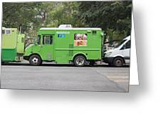 Food Trucks Greeting Card