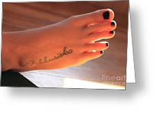 Foot Greeting Card