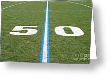 Football Field Fifty Greeting Card
