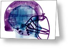 Football Helmet X-ray Greeting Card