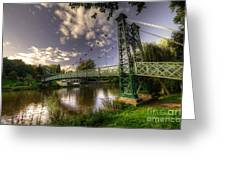Footbridge Over The Severn  Greeting Card